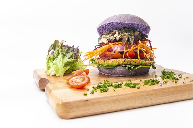 Hambúrguer Vegano de lentilha e mix de quinoa